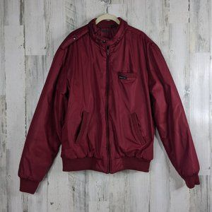 Vtg 80s Members Only Mens Full Zip Jacket Size 42L